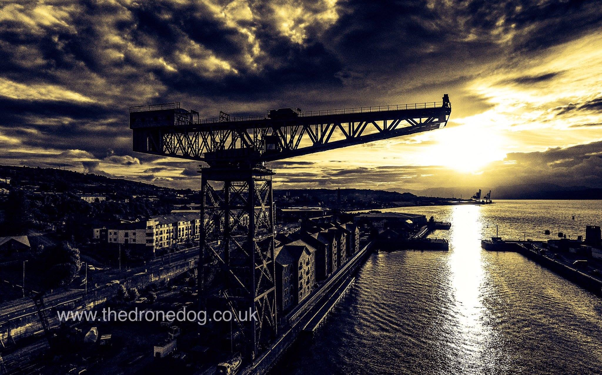 The Titan crane at Greenock. Photo by The Drone Dog